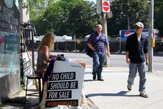"Canadian student teaches Canadians about Child Slavery on the downtown streets of Toronto!  Learn more about World Visions ""No Child For Sale"" campaign at,  yourmovement.ca Sale Campaign, Student Teaching, Toronto, Youth, Canada, Learning, Children, Young Children, Boys"