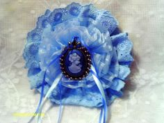 lace and ribbon hairbow