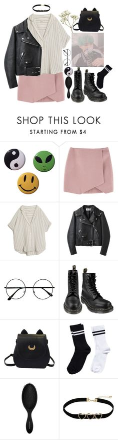 """""""idk what i am doing in my life rn"""" by pgrndjn ❤ liked on Polyvore featuring MASSCOB, Acne Studios, Dr. Martens, Pieces, Sephora Collection, Topshop, kpop, 90s and koreanstyle"""