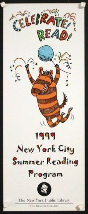 'Celebrate! Read! 1999' New York City Summer Reading Program poster, The New York Public Library, USA, 1999