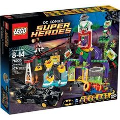 Diecast Auto World - Lego DC Comics Super Heroes Batman Jokerland With Mini Figures 1037 Pieces 76035, $109.99 (http://stores.diecastautoworld.com/products/lego-dc-comics-super-heroes-batman-jokerland-with-mini-figures-1037-pieces-76035.html)