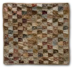 circa 1870 doll quilt-great color scheme for a tumbler quilt!