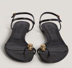 83b436002 Alexander McQueen Sandals LOVE  AlexanderMcQueen Leather Chain