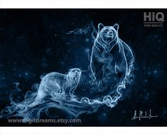 P190: Otter and Bear Patronuses by DigitDreams on Etsy