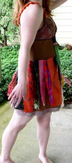 Hippie Hippie Shake Upcycled tattered fabric by dramatiquedesigns, $62.00