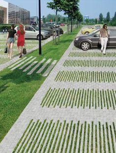 New Landscape Architecture Public Spaces Pavement Ideas Landscape Concept, Landscape Architecture Design, Urban Landscape, Landscape Architects, Valley Landscape, Architecture Images, Architecture Awards, Car Park Design, Parking Design