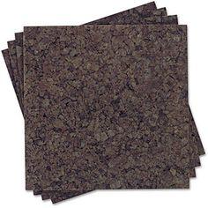 Dark cork boards!  Quartet Cork Panel Bulletin Board, Natural Cork, 12 x 12, 4 Panels/Pack