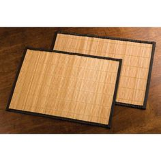 Bamboo Mats Trimmed In Contrasting Dark Cloth Creates A Clean, Casual Place  Setting For Any