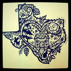 I love LOVE this tattoo... would like to do something similar but in the shape of Maryland.