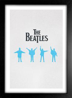 Poster Beatles Help na internet