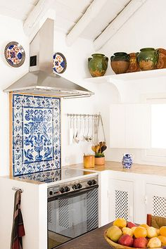 GroB Beautiful Tile Backsplash   Blue And White Tile