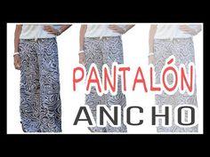 Cómo hacer un PANTALÓN ANCHO - Fabiana Marquesini - 27 - YouTube Diy Clothes, Nice Dresses, Sewing Patterns, Sequin Skirt, Fashion Dresses, Pajama Pants, Blogging, Wordpress, Knitting