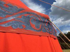 byzantine red tent made by Vinedi archery shop