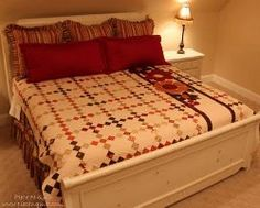 Craft adorable quilts for king size beds using the Gobble Chain Quilt pattern!
