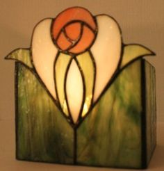 2014-06-21 22.03.12  Abstract rose stained glass candle holder.