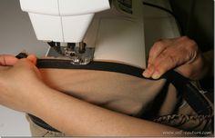 Coudre les élastiques directement sur le tissu - Self-couture