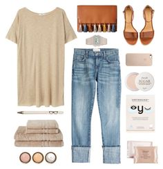 """Friday: Casual"" by solespejismo ❤ liked on Polyvore featuring MANGO, Current/Elliott, Shiseido, BioRepublic, By Terry, Fresh, Rebecca Minkoff, A.P.C. and Seltzer"