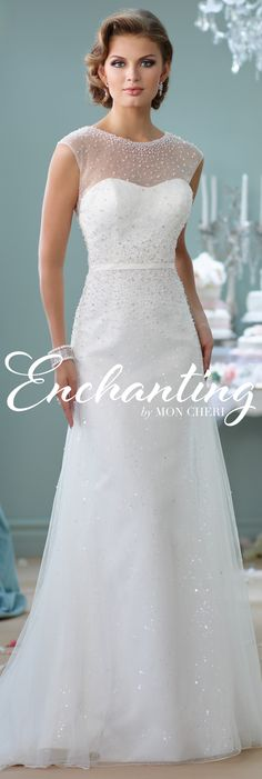 Enchanting by Mon Cheri Spring 2016 ~Style No. 116142 #weddingdresseswithsleeves