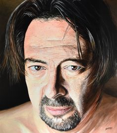"""Self Portrait #1"" By Socrates Rizquez 2017 - 105x120 cm. Enamels on melamine painting. Pintado con esmaltes sobre melamina."