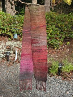 saori scarf - cool pattern with warm colors