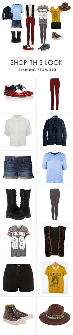 """""""butch casual ideas"""" by moringan ❤ liked on Polyvore featuring Robert Clergerie, Salsa, J.Crew, Joe's Jeans, BC Footwear, Topshop, Project Social T, Pull&Bear, OBEY Clothing and Converse"""