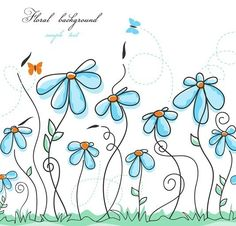 Find Colorful Summer Floral Background stock images in HD and millions of other royalty-free stock photos, illustrations and vectors in the Shutterstock collection. Thousands of new, high-quality pictures added every day. Doodle Art, Doodle Drawings, Doodle Images, Watercolor Cards, Watercolor Flowers, Watercolor Paintings, Watercolour, Art Fantaisiste, Nature Vector