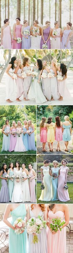 Top 5 Bridesmaid Dress Trends this Spring - Mismatched Pastel