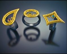 Zaffiro Jewelry trio of rings