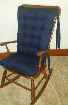 Solid Navy Custom Rocking Chair Cushions Glider By MayberryandMain