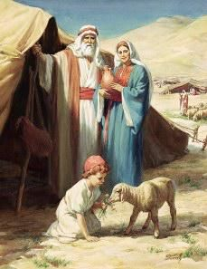 Abraham and Sarah Abraham and Sarah Enter Canaan As Abraham and Sarah entered Canaan, they stopped at one of the first cities they wo. Images Bible, Bible Pictures, Jesus Pictures, Religious Pictures, Religious Art, Image Jesus, Arte Judaica, Abraham And Sarah, Mormons