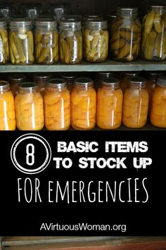 8 Items to Stock Up {Preparing for Emergencies} @ AVirtuousWoman.org #preparedness