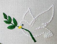 It s a new day a new week a new beginning Every moment is a new oportunity to be happy You ve never been in this moment Be open to what it has to offer to you and feel the wonder of life happening Wishing you a peaceful week Hand Embroidery Dress, Hand Embroidery Videos, Simple Embroidery, Hand Embroidery Stitches, Hand Embroidery Designs, Embroidery Techniques, Ribbon Embroidery, Embroidery Art, Cross Stitch Embroidery