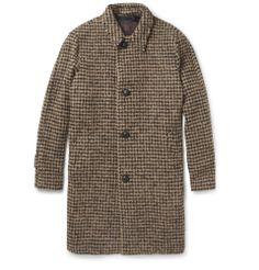 MP di Massimo Piombo - Houndstooth Check Baby Alpaca-Blend Overcoat|MR PORTER