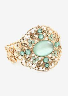Maria Filigree Bracelet in Soft Mint