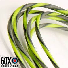 "60X Custom Strings Flo Green /& Black 52 1//2/"" Bowstring BCY Material Compound"