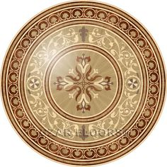 Larger image for P14 In Wood Medallions - part of Czar Floors collection of unique decorative flooring products.