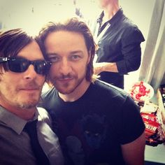 Norman Reedus & James McAvoy at San Diego Comic Con 2013
