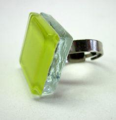 vidro Incolor / amarelo base Metal  n 20 -  Ajustável 2 ,5 x 2,5  cm R$26,00