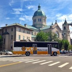 VCU's RamRide buses connect the Monroe Park Campus to the MCV Campus.
