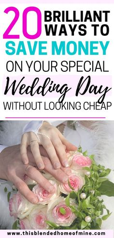 20 Brilliant Ways to Save Money on Your Wedding Day - Without looking cheap - Cheap Wedding Dresses Diy Wedding On A Budget, On Your Wedding Day, Wedding Tips, Perfect Wedding, Wedding Events, Destination Wedding, Wedding Hacks, Dream Wedding, Wedding Timeline