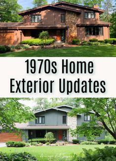 Ranch Exterior, Rustic Exterior, Exterior Remodel, Modern Exterior, Exterior Design, Stone Exterior Houses, House Paint Exterior, Exterior House Colors, Green House Siding