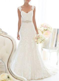 Elegant Off-Shoulder Lace Bridal Gowns White Wedding Dress 1