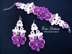 Komplet biżuterii na ślub Lilac wedding sutasz