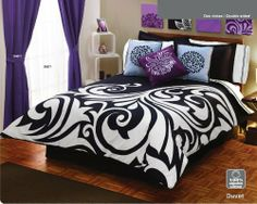 White Black Gray Comforter Duvet Sheets Bedding Set Full 12 Pcs by comforter. $195.90. like a bed in a bag bu better. complete set. this style is not found in stores. black and gray. 12 pcs complete to decorate. full size includes: flat sheet fitted sheet pillow cases comforter duvet double sided shams bedskirt cushioon