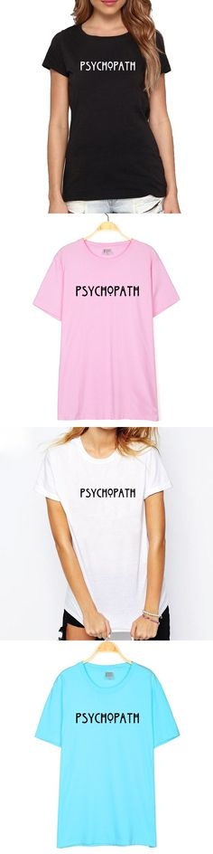PSYCHOPATH T-Shirt American Horror Story Tee Unisex PSYCHO T Shirt Fashion Casual Cotton Funny Women Men T Shirt Drop Shipping