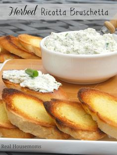 Herbed Ricotta Bruschetta is great for weekend get togethers with friends!