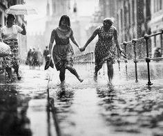 Summer rain, Moscow, ca. 1960s