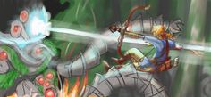 Link vs Ancient Robot thing XD