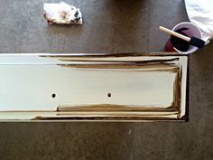 How To Paint And Distress A Wood Hutch Antiquing Glaze