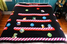 Hey, I found this really awesome Etsy listing at https://www.etsy.com/listing/164298499/bubble-bobble-blanket